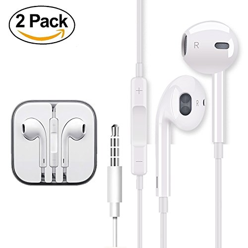 f038e178497 2 PACK Earbuds Earbuds Earbuds For Apple Headsets Iphone Earbuds With …