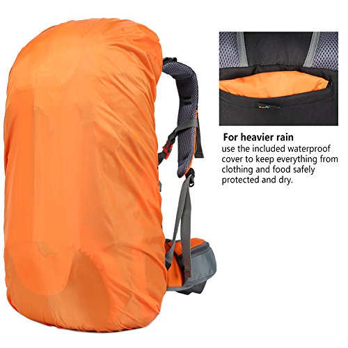 2b069ca51aab Durable Hiking Backpack  Made with high quality polyester + nylon fabric