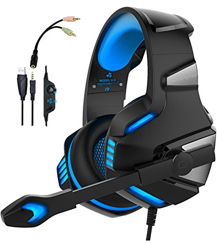 WINTORY V30 Gaming Headset Xbox One PS4 Headset Ear noise detector … 78c129b84d