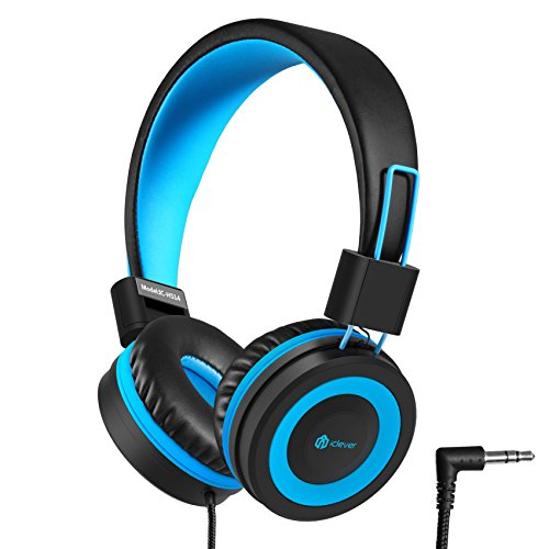 USB Gamer Headphones with Mic LED Light Soft Earmuffs iClever Gaming Headset Noise Reduction PC Gaming Headset 7.1 Surround Sound Deep Bass Adjustable Headband