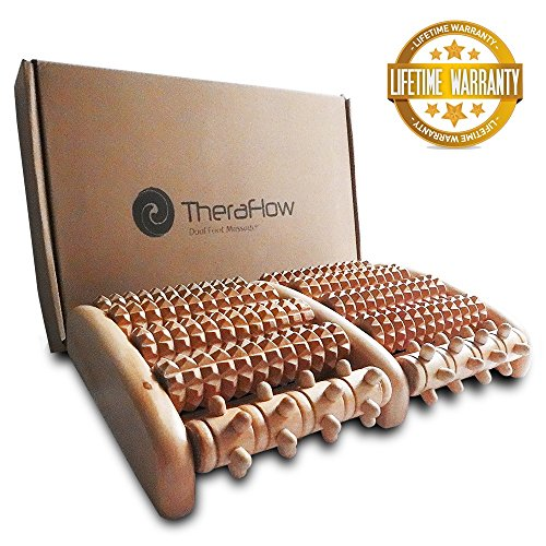 c33ce040593 TheraFlow Dual Foot Roller Massager (Large) – Relieves plantar fasciitis