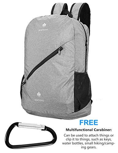 2018 Travel Backpack Waterproof Large Capacity Breathable Nylon Outdoor Mountaineering Bag Diamond Shaped Folding Backpack Clear And Distinctive Camping & Hiking