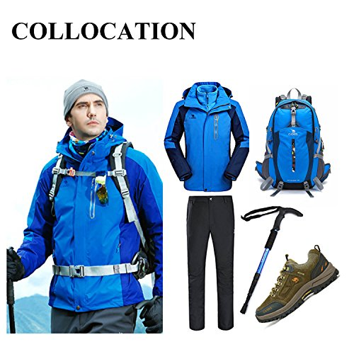 Waterproof Large Capacity Hiking Cycling Tour Equipment Outdoor Backpack Riding A Bike With A Helmet Tra Nsport Multi-function Basketball Football Quick-drying Fabric Bag 40L Water-Resistant Big Busin