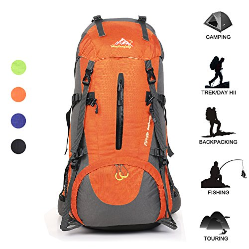466d26a94854 Hiking Backpack Huwaijianfeng 45 + 5L Waterproof Backpack Outdoor Sport  Daypack with …