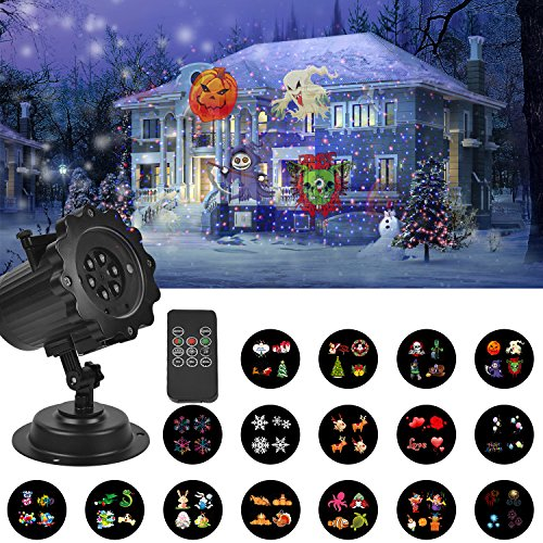 Vnl Ip65 Animated Christmas Projector Lamps Led Halloween Lights For Indoor Outdoor Light Christmas Party Holiday Decoration Refreshing And Beneficial To The Eyes Stage Lighting Effect