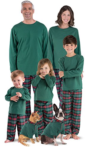 c9bf1a43ee PajamaGram Family Cotton Christmas Pajamas – Flannel Plaid