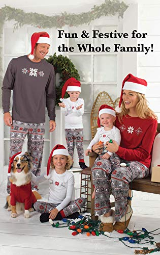 15920355ba Keep the family comfortable in these matching family Christmas pajamas.  Ideal for long winter naps, these festive pajamas sport a custom  Nordic-inspired ...