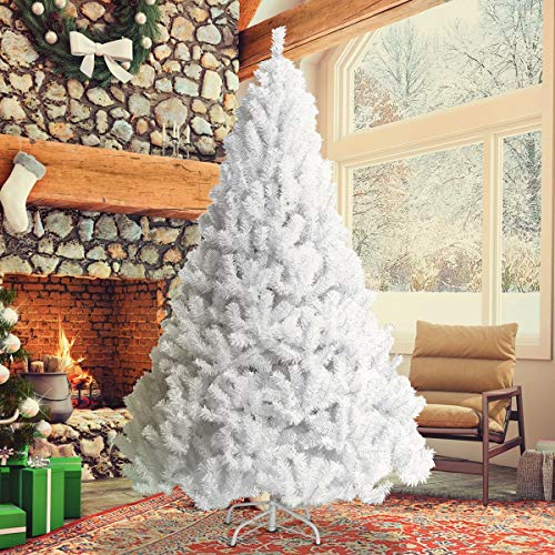 d22b4b82ceb Toolsempire Artificial Christmas Tree 5 6 7 8 ft White with Solid Fir …